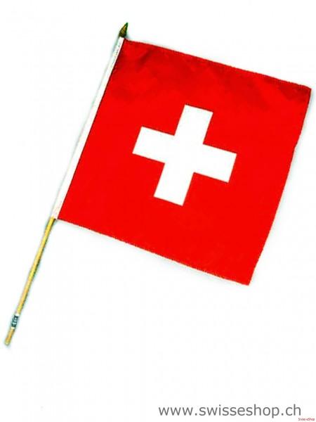 Schweizer Fahne (Fahne: 35 x 35 cm)