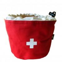 Kartoffeltasche Schweizerkreuz, rot