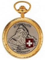 Taschenuhr Bolux 1P-14 Zermatt, zweifarbig mit Kette gold