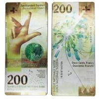 Magnet Schweizer Banknote CHF 200.-
