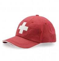 Cap Schweizerkreuz, rot