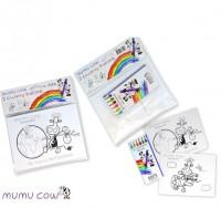 Farbstifte und Postkarten Set, Mumucow