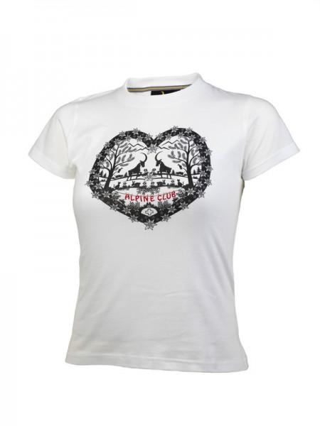 Damen T-Shirt Scherenschnitt