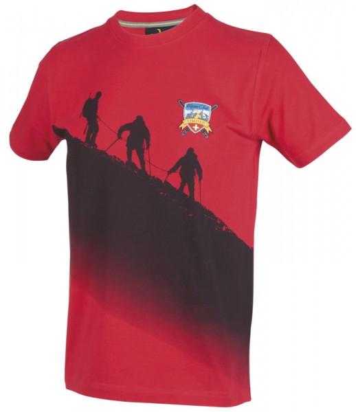 T-Shirt Bergwanderer, rot