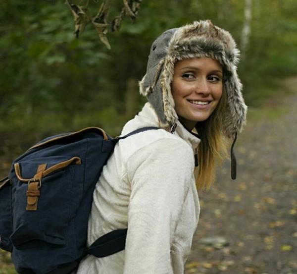 Wintermütze mit Pelz, Loden/grau