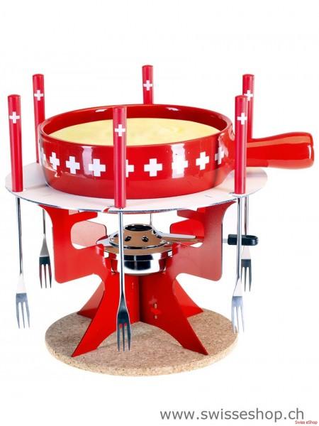 """Schweizer Käsefondue Set """"Mini Fondue Bar Swiss"""""""