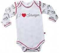 "Baby-Body ""I Love Schwinger"", langarm, weiss"