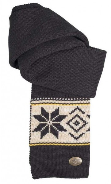 Winterschal Vintage schwarz