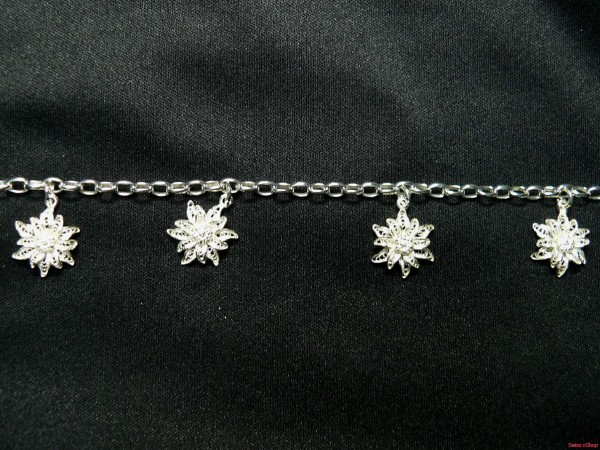 Armband mit vier Edelweiss 230
