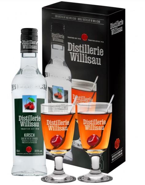 Distillerie Willisau Kirsch Geschenkset, 37.5% Vol., 50 cl