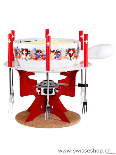 "Käsefondue Set ""Mini Fondue Bar Bluemenwiese"""