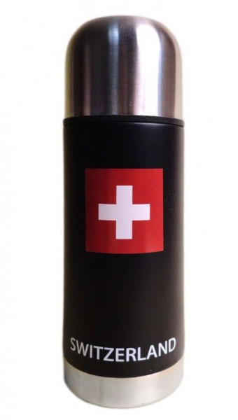 Thermosflasche SWITZERLAND schwarz