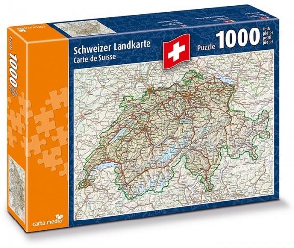 Puzzle 1000 Teile Schweizer Landkarte