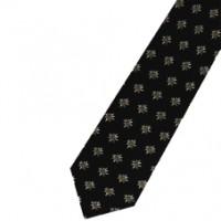 Krawatte Edelweiss, schwarz