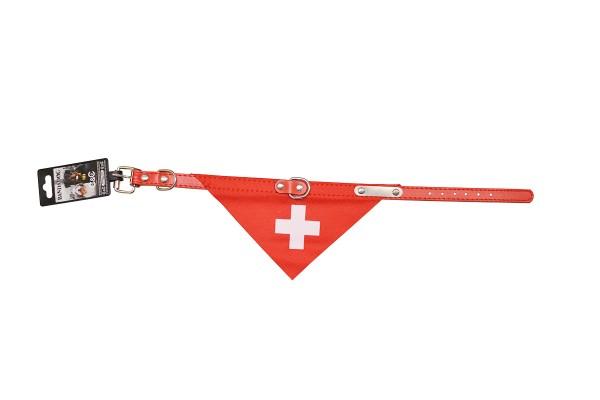 Hunde-Halsband Schweizerkreuz rot
