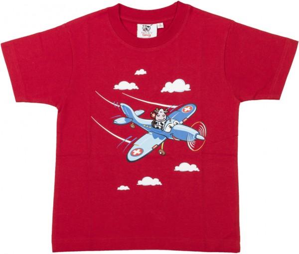 T-Shirt Flugzeug, rot