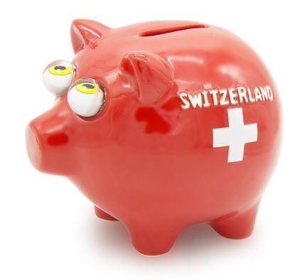 Sparkasse Schwein mit Schweizerkreuz