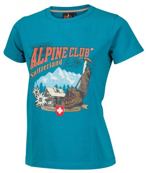 Damen T-Shirt, vintage, Chalet