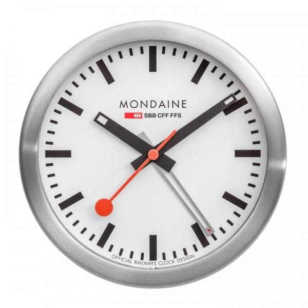 Mondaine Bahnhofsuhr Tischuhr und Wecker 125 mm