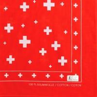 Nickituch Schweizerkreuz, rot