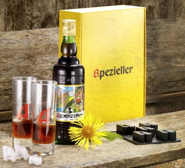 """Appenzeller Alpenbitter Geschenkpackung """"Eiswürfel"""""""