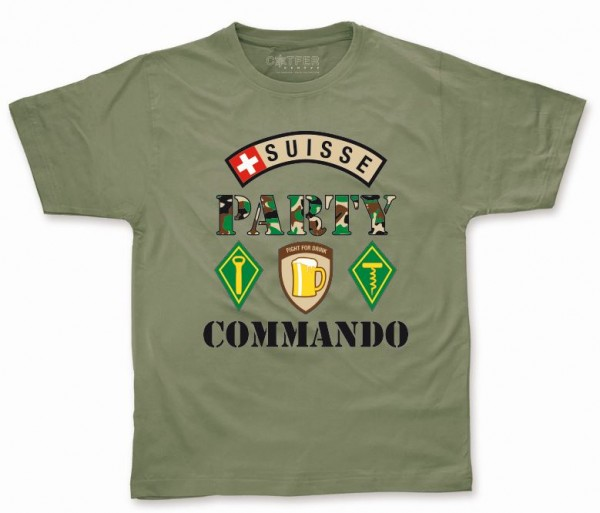 T-Shirt Suisse Party Commando