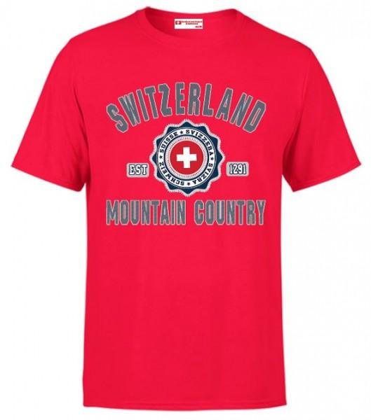 Herren T-Shirt Mountain Country Switzerland
