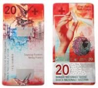Magnet Schweizer Banknote CHF 20.-, 9cm x 4.5cm
