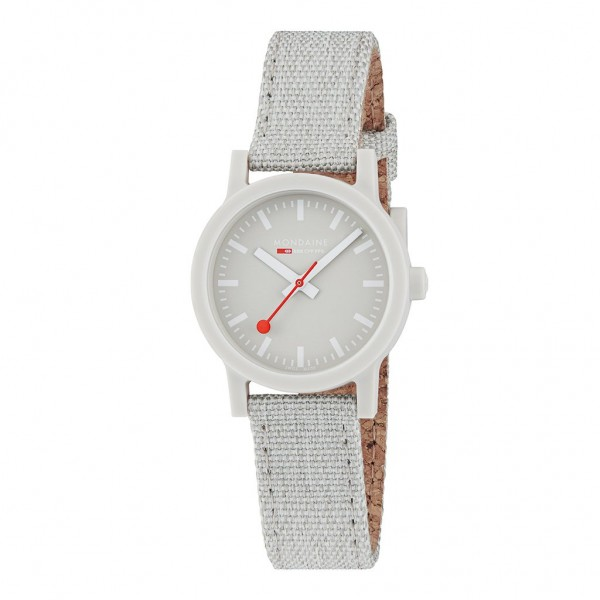 Damen Armbanduhr Mondaine SBB Essence Nachhaltig Grey 32mm