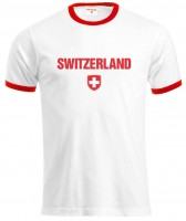 T-Shirt Schweiz Fussball, weiss