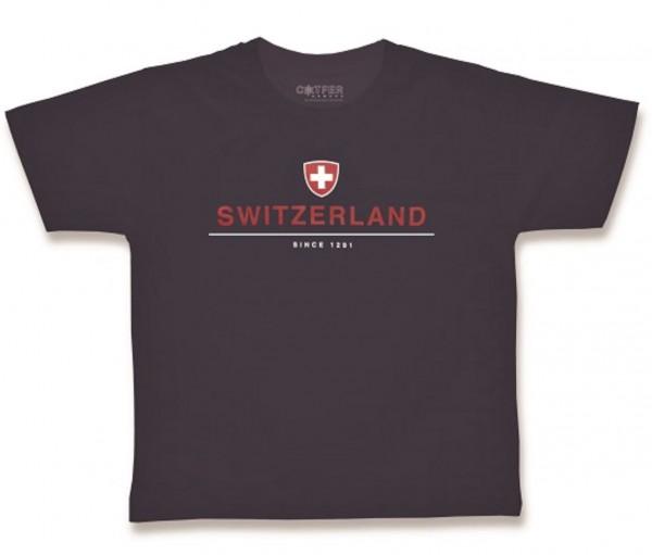 Herren T-Shirt Switzerland Schweizer Wappen Since 1291, dunkelblau