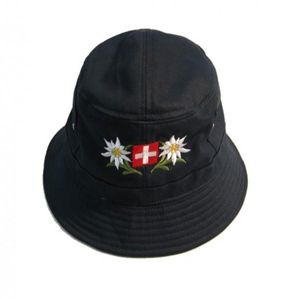 Mütze Bob Edelweiss Schweizerkreuz, Baumwolle