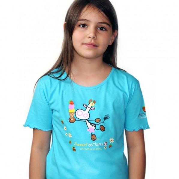 Mädchen T-Shirt Mumu Cow Eis
