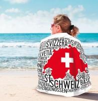 """Badetuch """"Cloud Schweiz"""", Mikrofaser"""