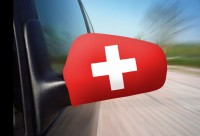 Autospiegel Fahnen Schweizerkreuz