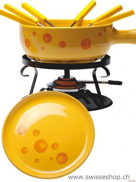 Käse Fondue-Set Formaggio- 15-teilig- gelb