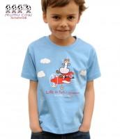 "T-Shirt Mumucow ""Life is fun"", blau"