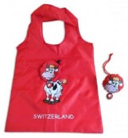 Falt-Tasche Pretty Cow, rot