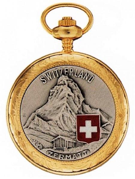 Taschenuhr Bolux 1P-14 Zermatt, zweifarbig mit Kette