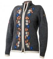 Damen Wolljacke gestrickt, grau