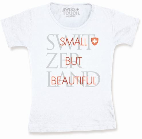 "Damen T-Shirt ""SMALL BUT BEAUTIFUL"", weiss"