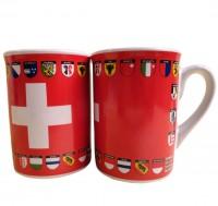 Tasse CH-Kreuz und Kantonswappen