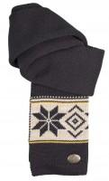 Winterschal Vintage, schwarz