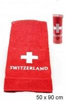 Badetuch 50x 90 cm rot mit CH-Kreuz Switzerland
