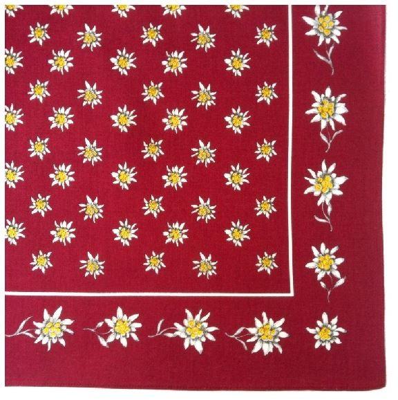 Nickituch Edelweiss, 55 x 55 cm, 100 % Baumwolle