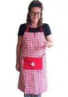 Küchenschürze Vichy-Karo, rot/weiss