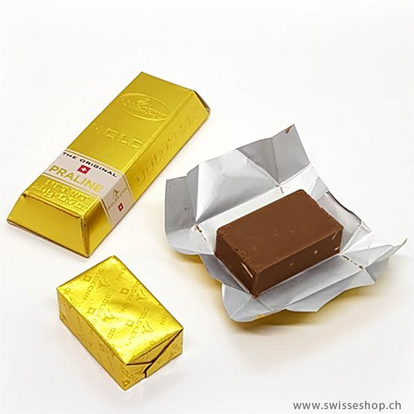 Schokolade Mini-Goldbarren - Praliné