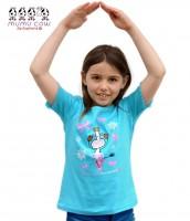 Mädchen T-Shirt Mumu Cow Ballet, türkis