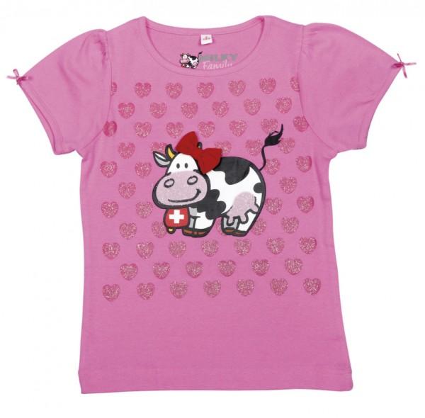 T-Shirt Milch-Blumen, rosa