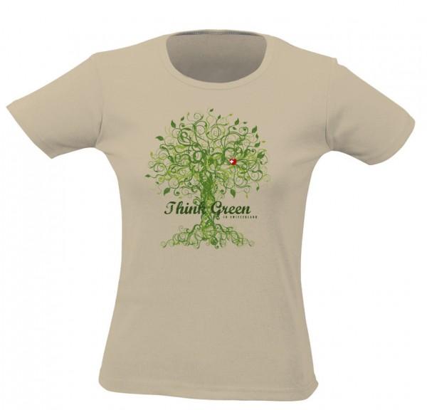 T-Shirt Think Green Women, sand